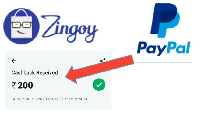 Paypal + Zingoy Offer - Get Free Rs.158 Per Account