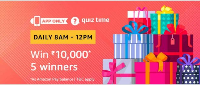 Amazon Quiz Time Daily - Today Amazon Quiz Answers Of Amazon Pay balance 1 march Quiz