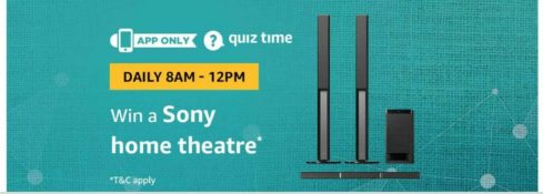 (Answer Added) Amazon Quiz Time Daily - Today Amazon Quiz Answers (6 April) & Win a Sony Home Theatre