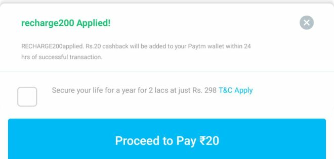 Paytm Recharge New Promocode - Get Free Recharge Of Rs.20