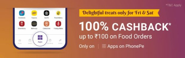 Phonepe Offer - Order Food Worth Rs.500 For Free