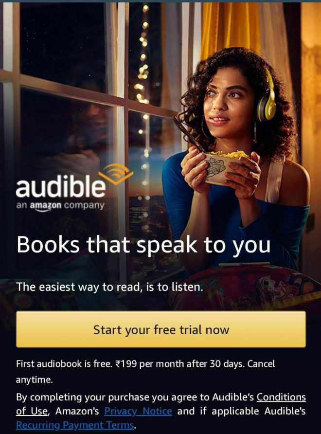 How To Get Amazon Audible Trial Membership For Free