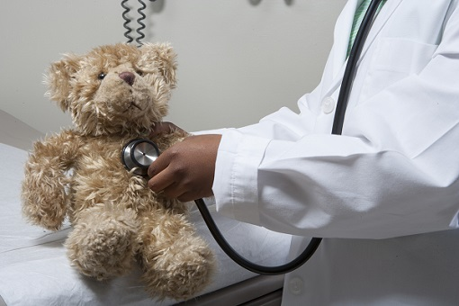 Girl pretending to be doctor