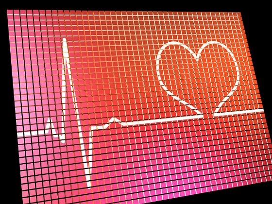 Heart Rate Display Monitor Showing Cardiac And Coronary Health