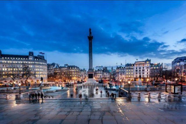 Trafalgar Square em Londres, Inglaterra