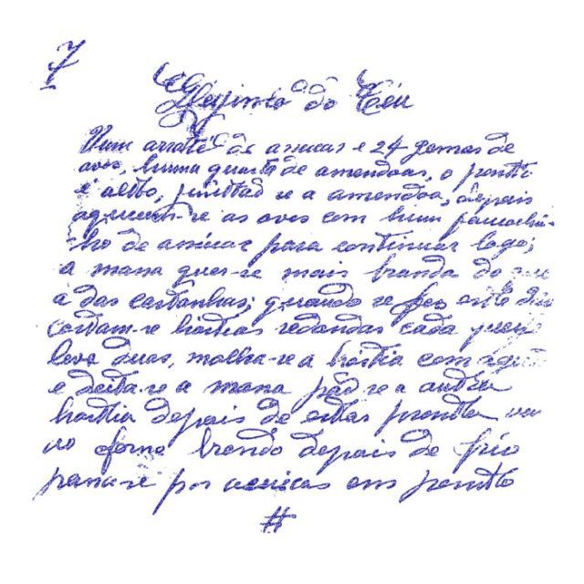 9 Receitas Conventuais originais do séc. XVIII