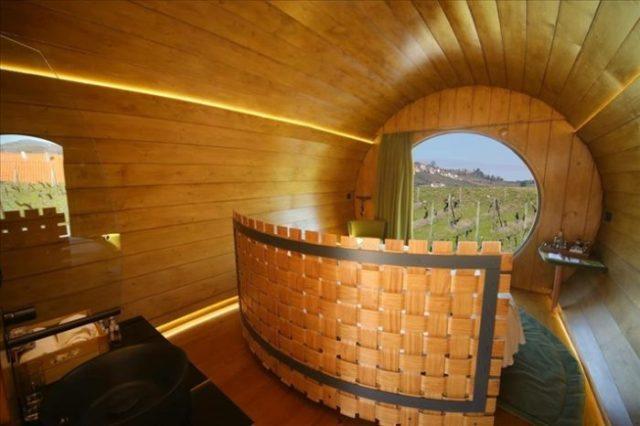 Só no Douro é possível dormir num pipo de vinho gigante