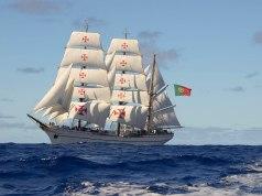 Momento Histórico: Navio Escola Sagres atraca em Faro