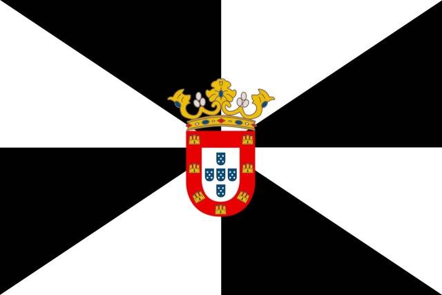 Há uma cidade espanhola que usa o brasão português