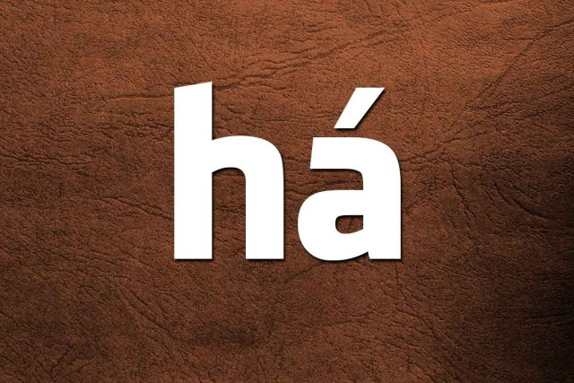 quando escrever a, à, á, há ou ah?