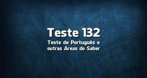 Teste de Língua Portuguesa «132»