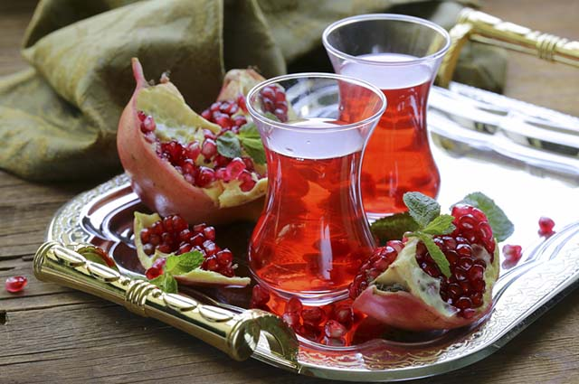 Chá de romã