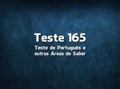 Teste de Língua Portuguesa «165»