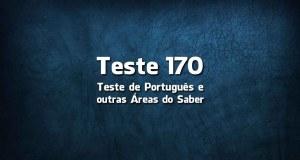 Teste de Língua Portuguesa «170»