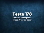 Teste de Português 178