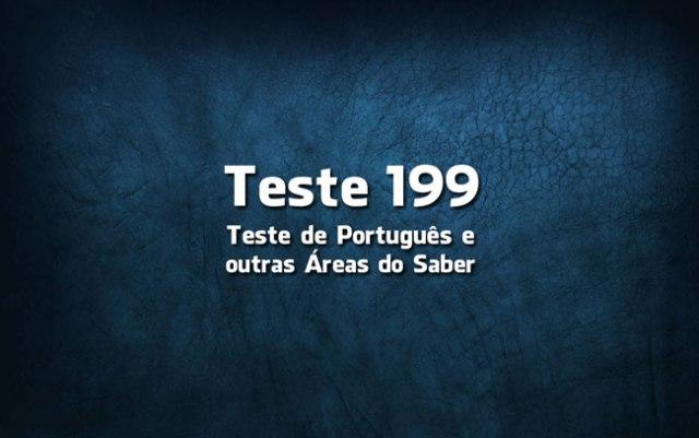 Teste de Língua Portuguesa 199