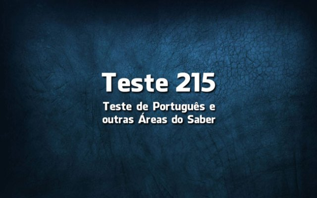 Quiz ou Teste de Português 215