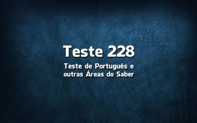 Quiz ou Teste de Português 228