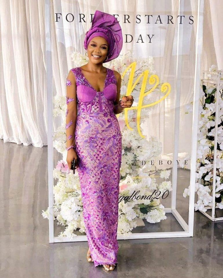 asoebi style lace dress
