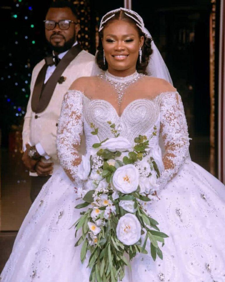 Detailed corset wedding dress brides space