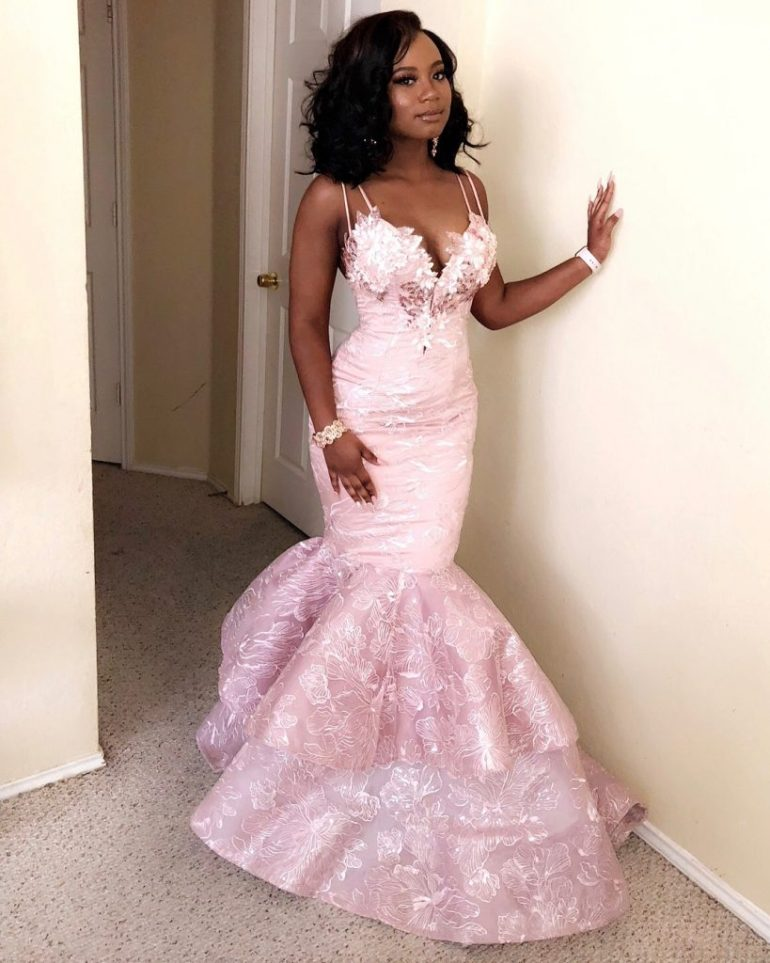 asoebi style lace dress with double mermaid tail