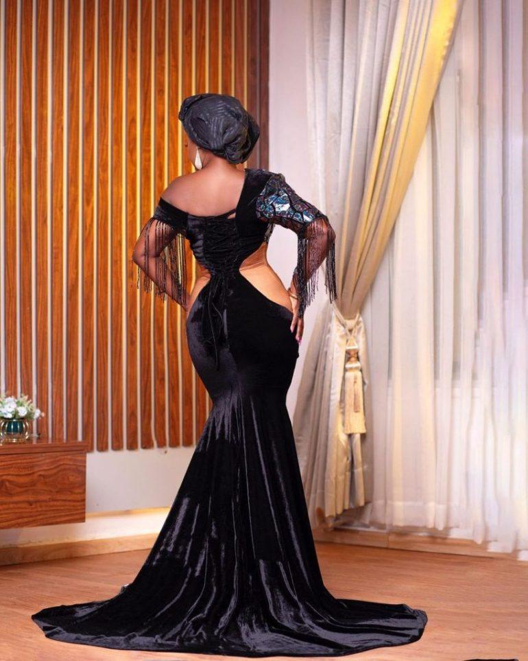 asoebi style sequinned dress
