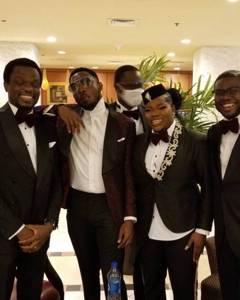 mfon ekpo serving as groomsman at kdlagos2021