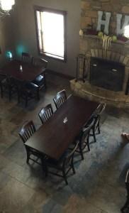The dining room at Herrera Vineyards