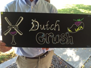 We all gathered by our sign - Dutch Crush!