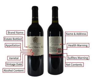 Wine Bottle Label Details
