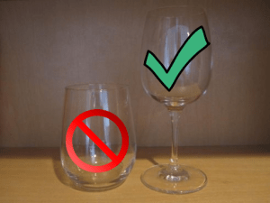 Just say no to stemless wine glasses