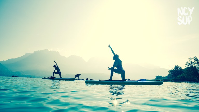 Paddle yoga lac d'Annecy NCY SUP