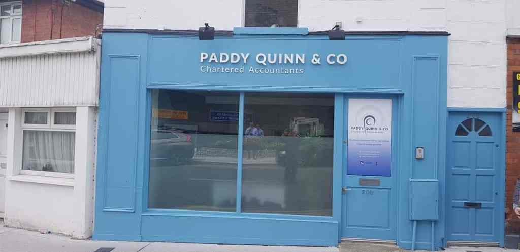 Exterior Sign Paddy Quinn Chartered Accountants