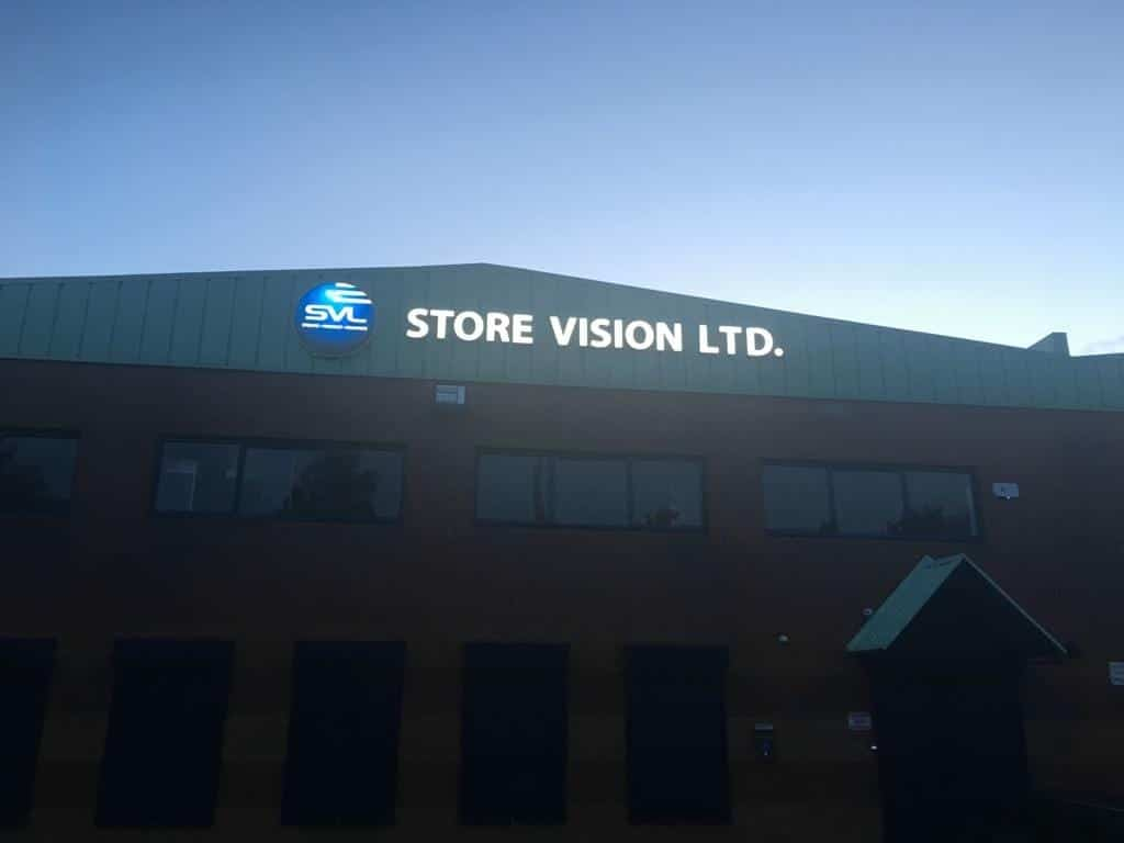 Exterior Illuminated Sign for SVL Store Vision