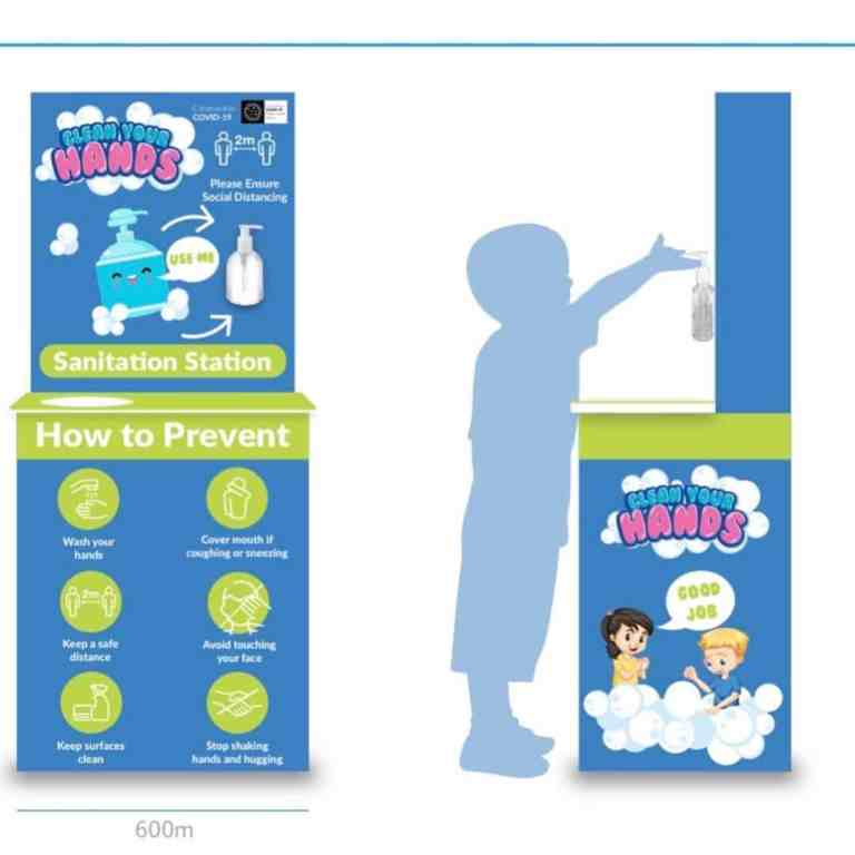 Child Friendly Sanitation Stations for Covid19