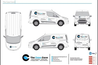 Van Graphics visual plan for the Case Cave.