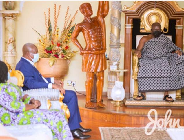 John and Jane visit Otumfuo