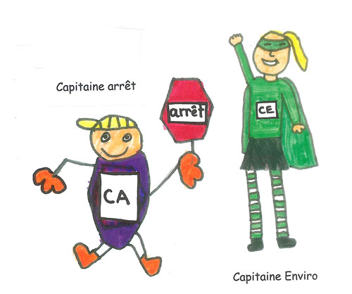 Capitaine Enviro et capitaine arrêt