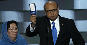 Mr. and Mrs. Kahn at the DNC Convention.