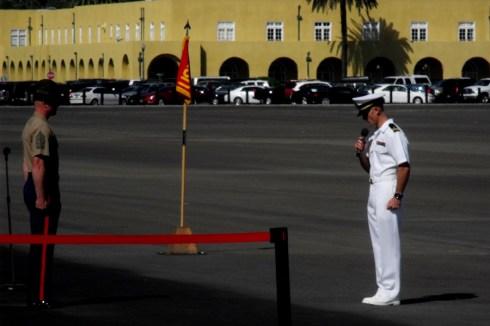 Marine Corp Champlain leading off the graduation
