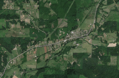Marcola and area, Google maps