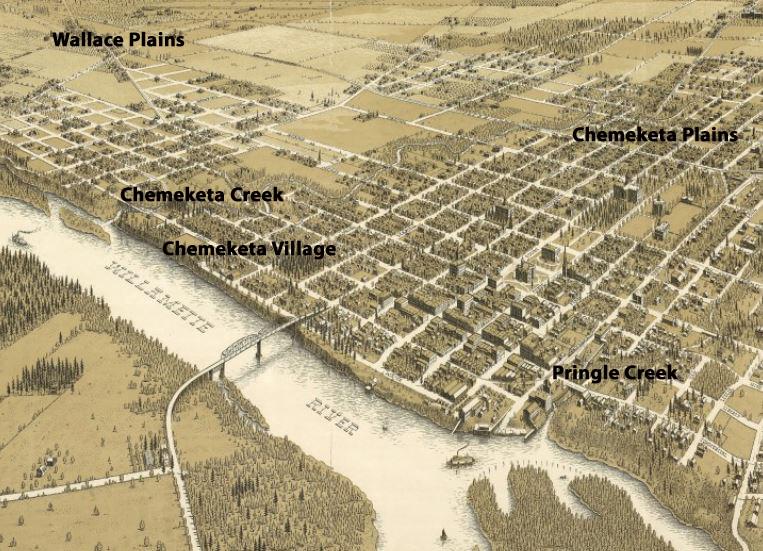 Chemeketa Creek Becomes Mill Creek