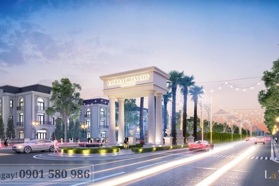 Thiết kế Tân cổ điển sang trọng tại Lavilla Green City Tân An