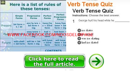 Tense rules with Online mock test (Quiz)