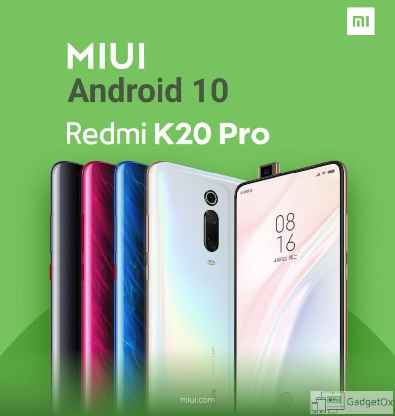 Android 10 update with MIUI 10 is rolling out to Redmi K20