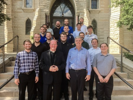 Fr. Jim Wehner, Rector/President at NDS, made a trip up to Omaha, Nebraska to visit our sixteen seminarians from Notre Dame Seminary who have spent their summer at The Institute for Priestly Formation.