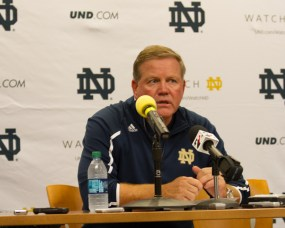 ND Head Coach Brian Kelly