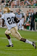 The Irish also wore their traditional white road jerseys in 2010, here against Michigan State.