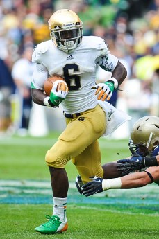 In 2012's season opener, Notre Dame wore Ireland-inspired accessories in its game against Navy.