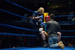 Trainers assist Pat Gordon between periods during his fight against Jack Considine. Michael Yu   The Observer